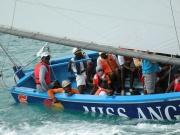 crew on Anguilla race boat