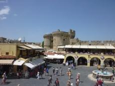 Square near Byzantine towers