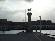 The Colossus of Rhodes once stood here